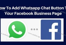WhatsApp Button On Facebook