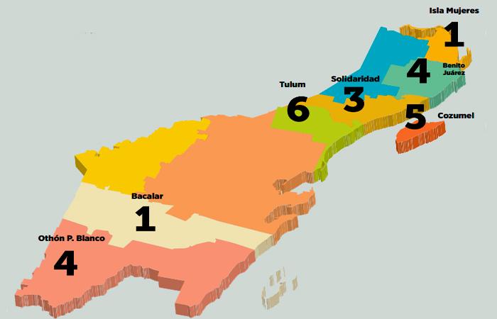 Los remates de Borge en 7 municipios de Quintana Roo
