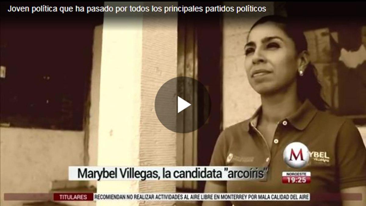 Otra vez, Marybel es nota nacional, exhiben su colorido partidista