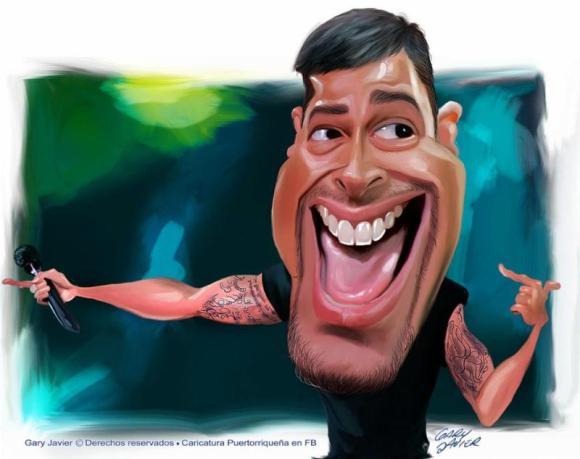 Ricky Martin, estrella de la música mundial   caricatura de Gary Javier