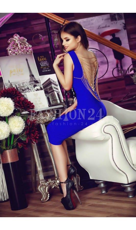 rochie-de-ocazie-gold-back-blue