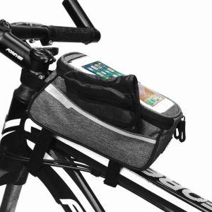 Brašna na kolo pro Smartphone - šedá