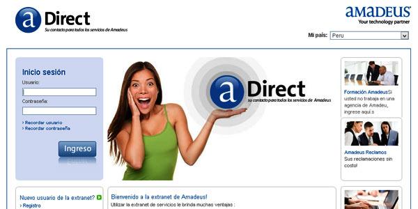 Amadeus Direct, la nueva extranet local en Perú de Amadeus