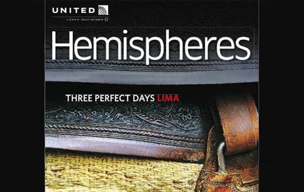 United Airlines promueve Lima como destino turístico en su revista Hemispheres