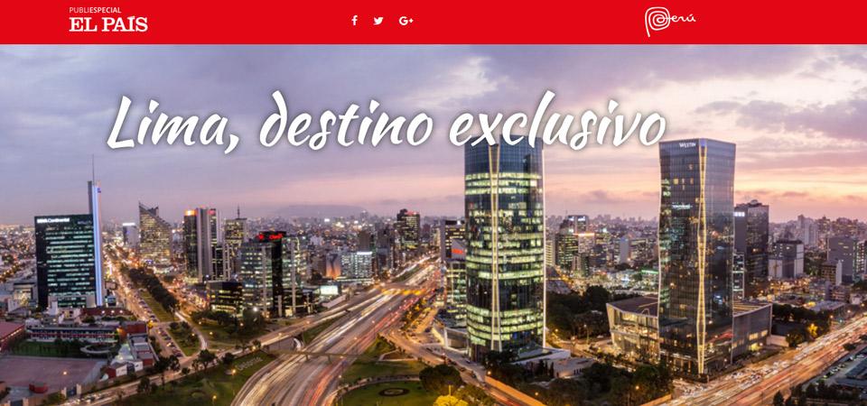 Lima se promociona como destino exclusivo en El Viajero de El País España