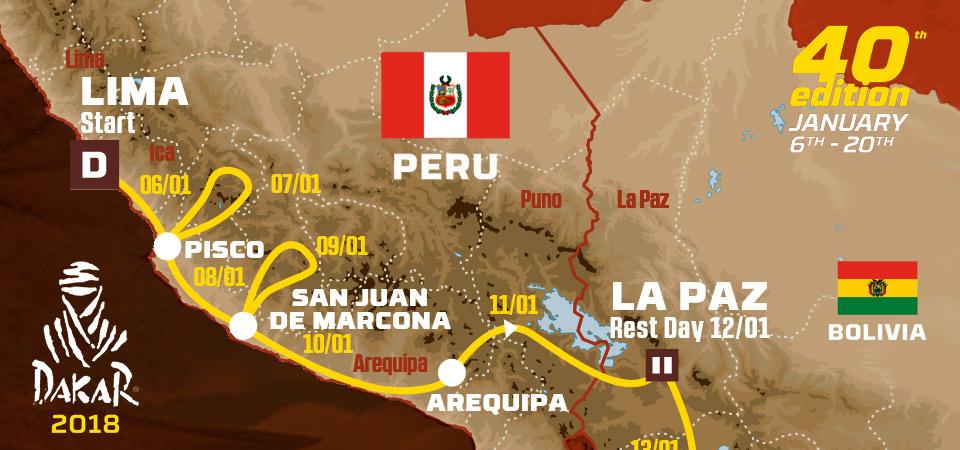 Conoce la ruta del Rally Dakar que se inicia en Perú el próximo 6 de enero