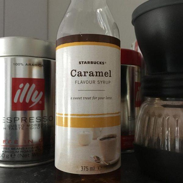 Flasche Caramel Sirup