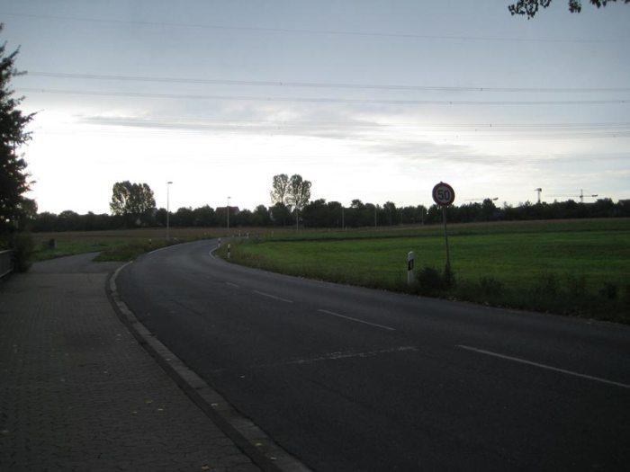 Straße im Morgengrauen