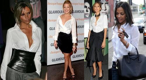 Risultati immagini per look da sera con camicia bianca