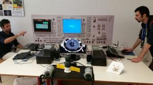 Simulazione di modulo lunare presente alla mostra