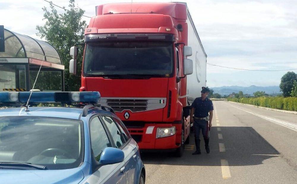 transportista multado