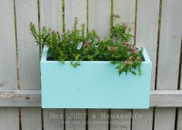 Planter Boxes on the Fence! | Not JUST A Housewife
