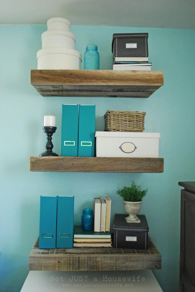 Ana White Diy Reclaimed Wood Floating Storage Shelf