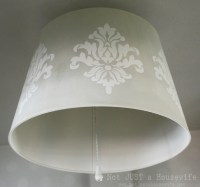 Stenciled Lamp Shade | Not JUST A Housewife