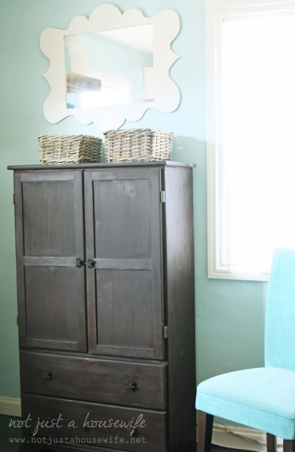 Armoire Turned Computer Cabinet Housewife