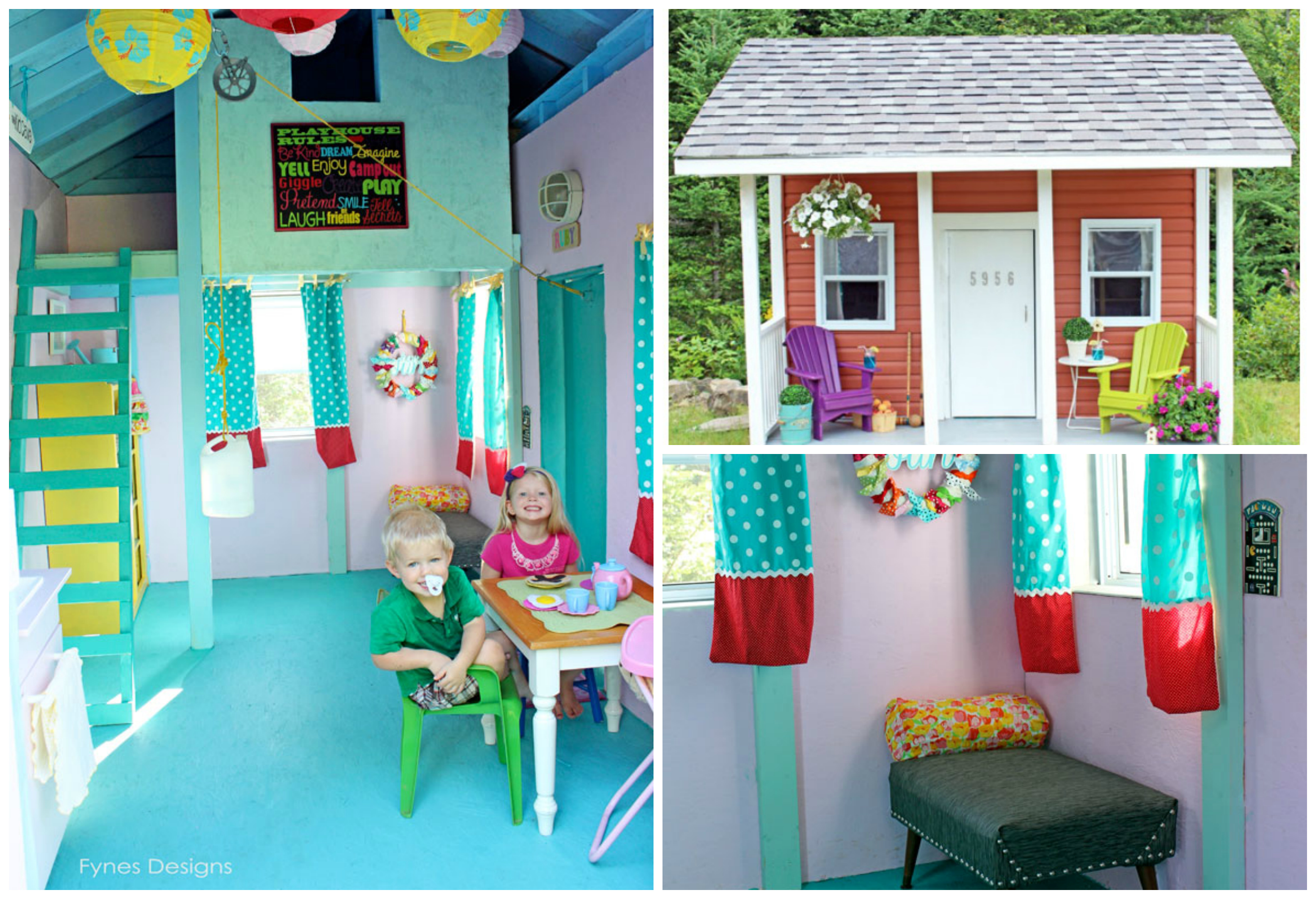 diy playhouse decor