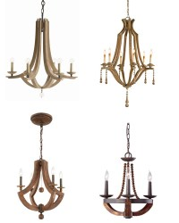 Wood Chandeliers | Not JUST A Housewife