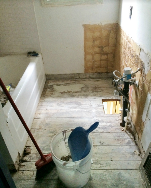 upstairs bathroom renovation part 2
