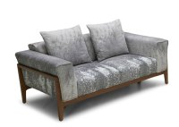 Dove Fabric Sofa With Solid Wood Frame