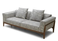 Dove Fabric Sofa With Solid Wood Frame - Not Just Brown