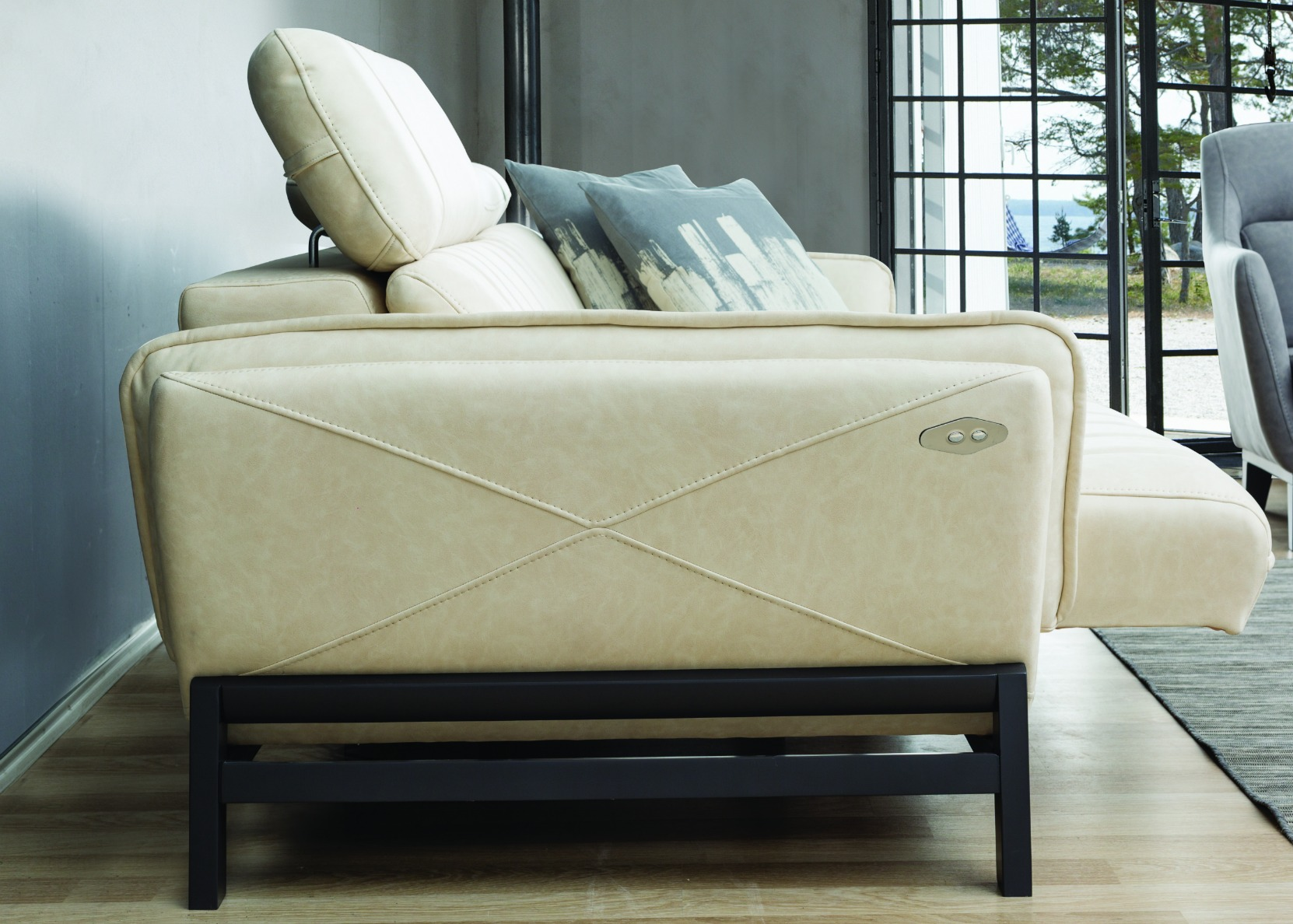 nubuck leather sofa best quality sofas relax with motorized sliding seat in white - not just ...