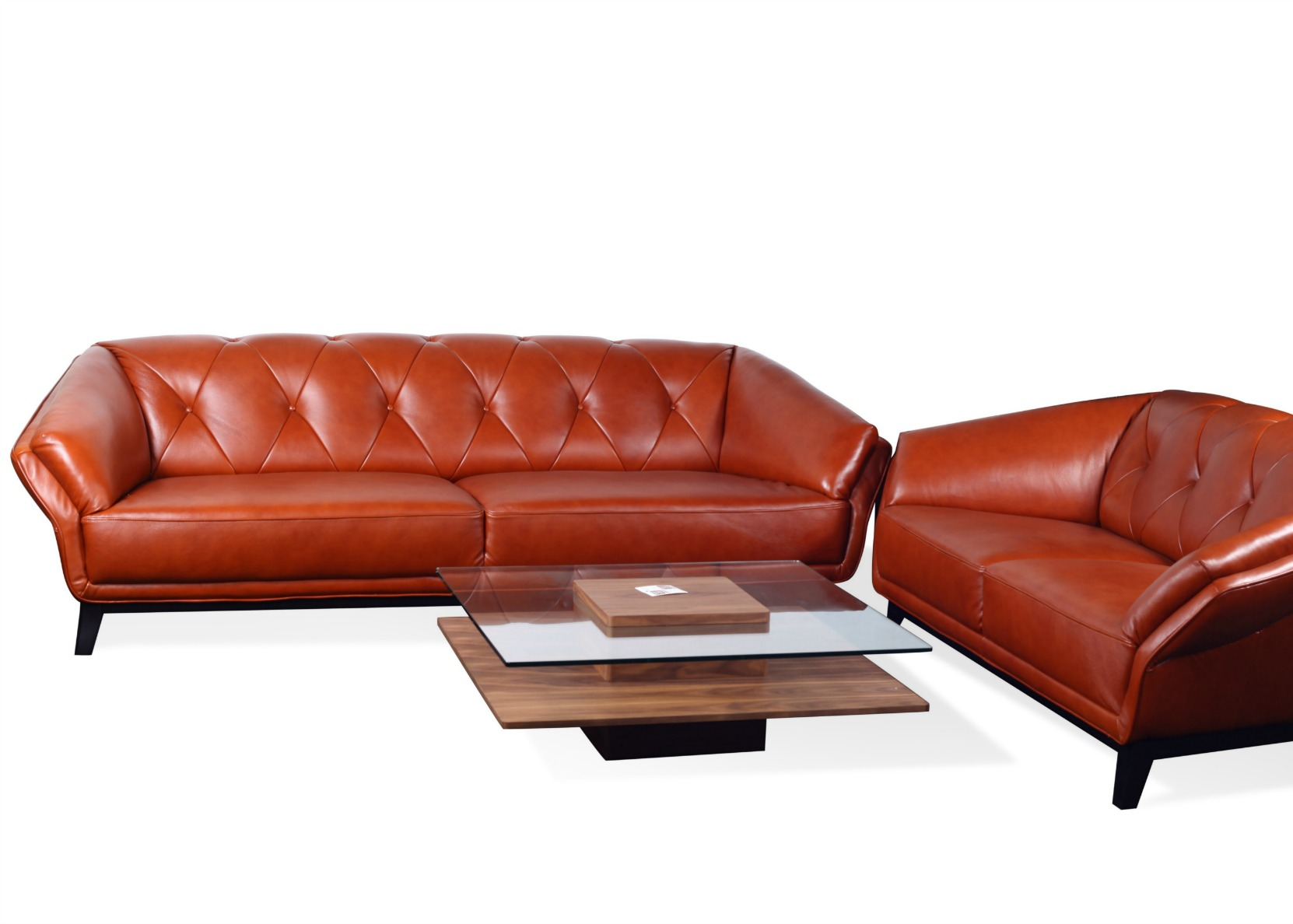 3 2 leather sofa set hay mags london 432 in tan and wood not just brown
