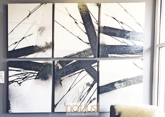 Black and white abstract art, 3-piece vertical wall art, home decor