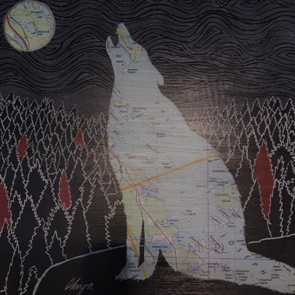 garden sculptures | wolf howling artwork