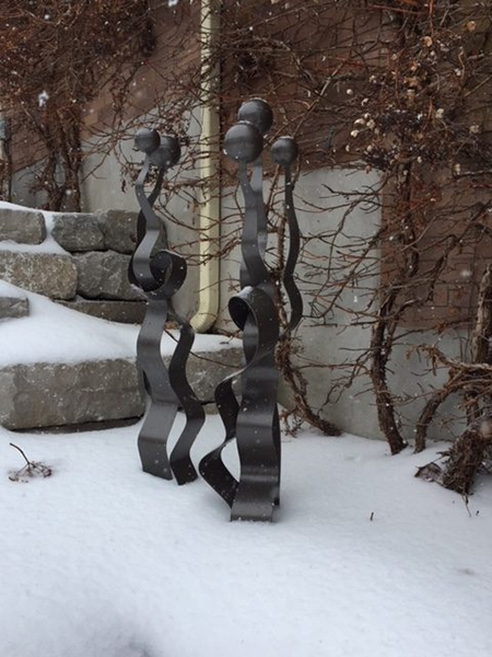 garden sculptures | abstract metal work