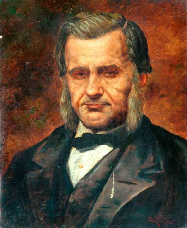 Riby Edwin Active 1911-1926; Late Professor Thomas Henry Huxley 1825-1895 - Hockney