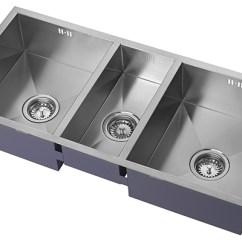 Triple Kitchen Sink Southwest Decor Zen Bowl Luxury Notjusttaps Co Uk Zoom