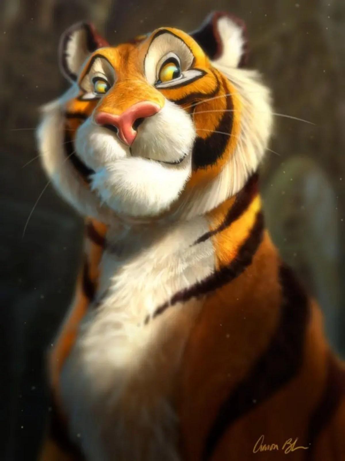 Tutoriales de Ilustración y Animación Aaron Blaise tigre