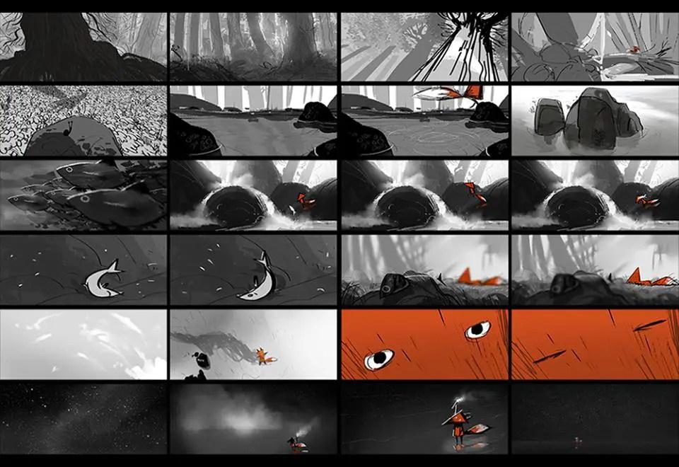 cortometraje de animación 2d-3d-Fox And the Whale-concept art