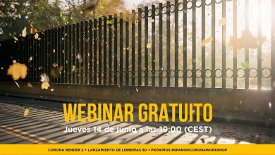 Photo of Webinar Gratuito: Corona Render 2 + Presentación de Librerías 3D + #SpanishCoronaWorkshop