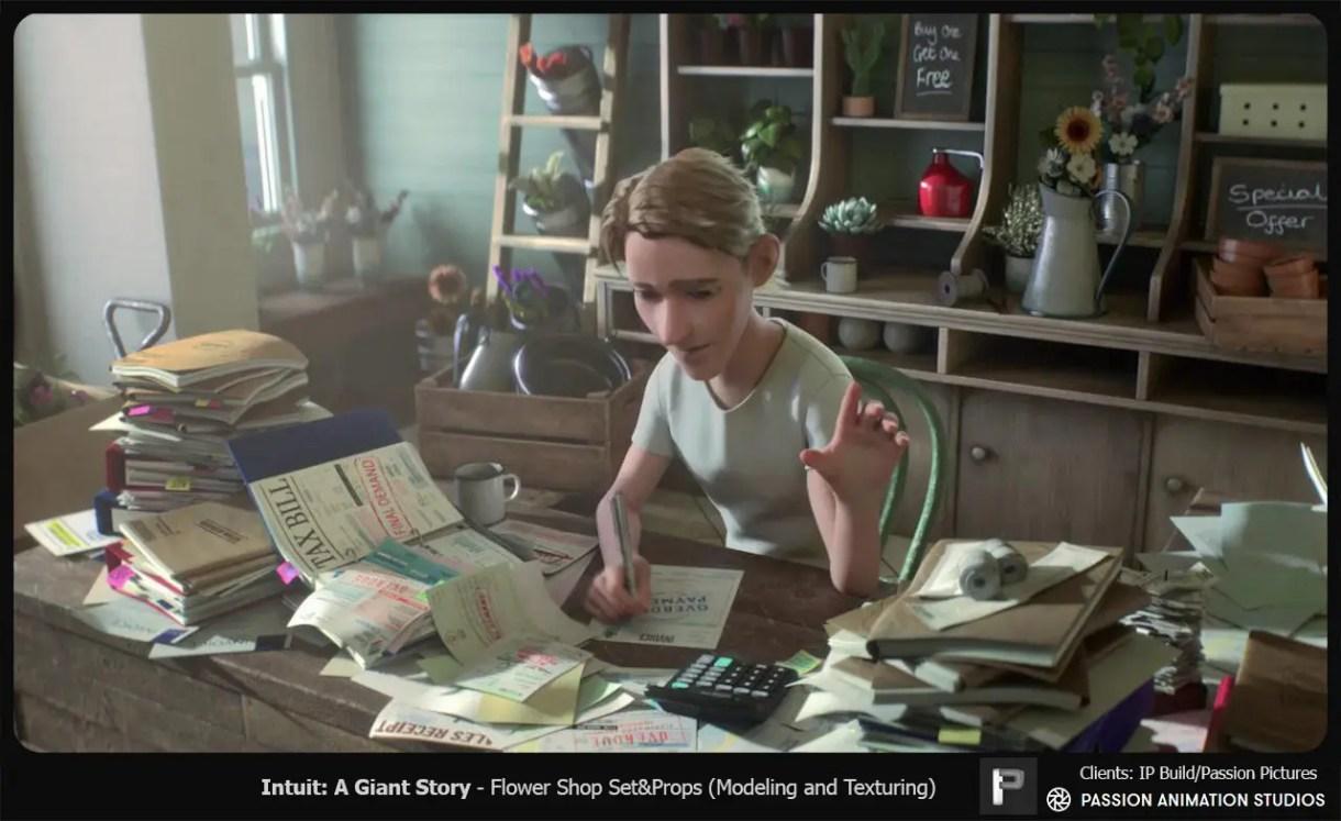 Intuit, A Giant Story - Spot de Animación y Desarrollo Visual