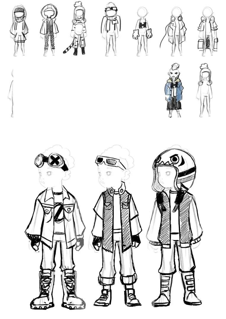 im not alone diseño de personajes