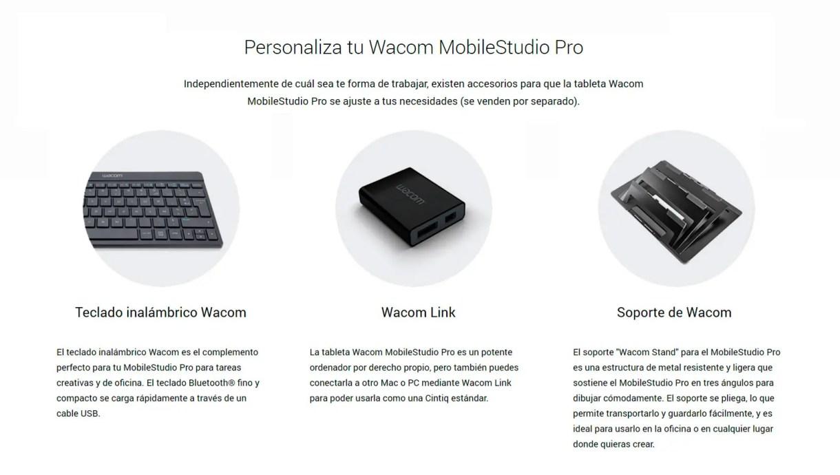 wacom teclado inalambrico, wacom link plus y soporte