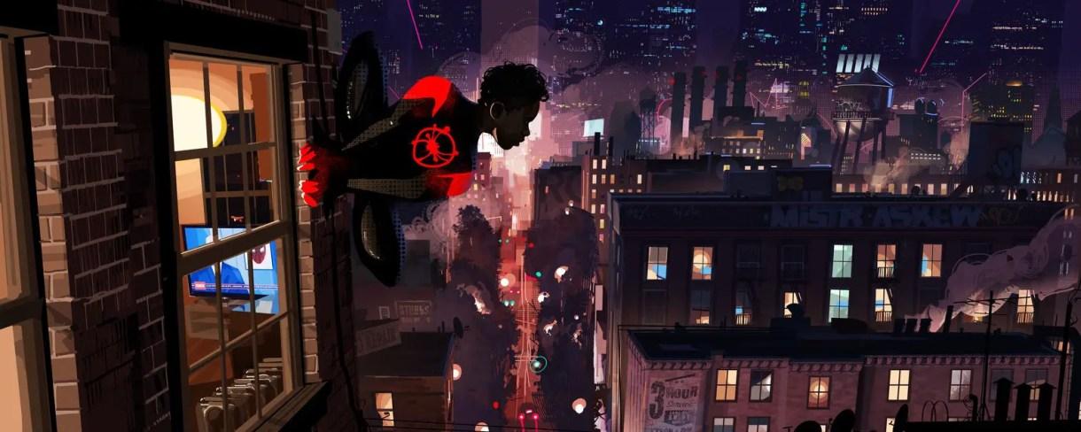 Spiderman Un nuevo Universo CONCEPT ART