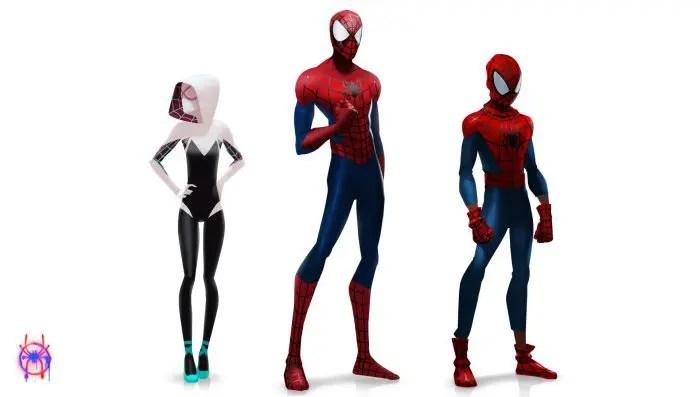 diseño de personajes spiderverse