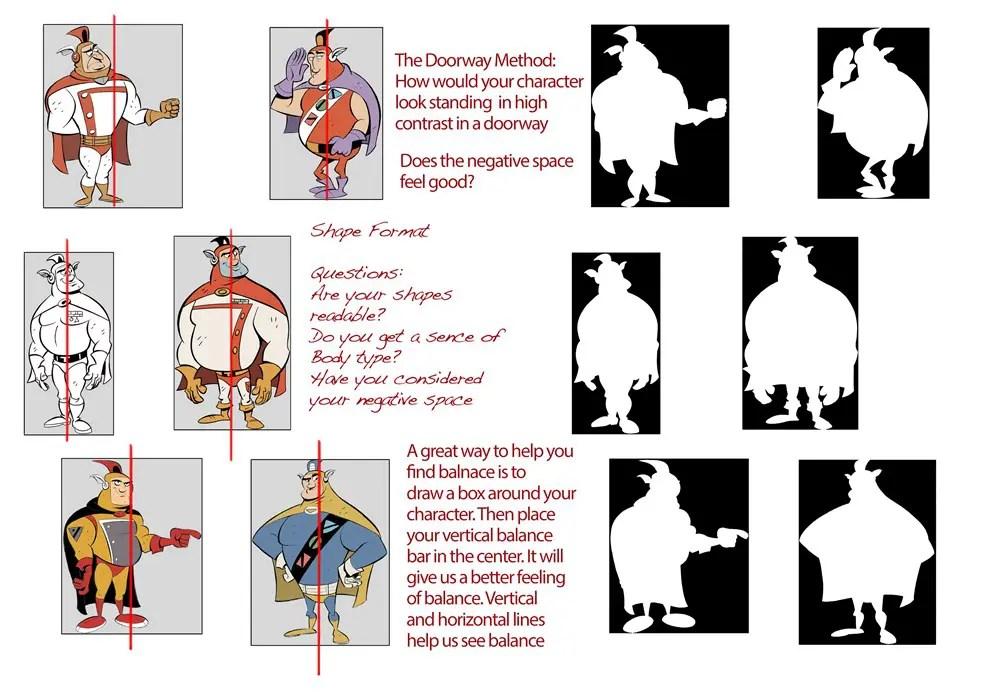 Espacio negativo - Principios del diseño de personajes