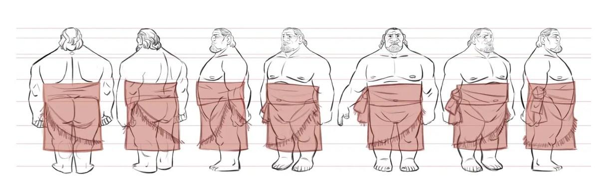 construcción diseño de personajes