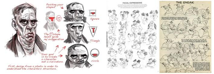 exageración principios diseño de personajes