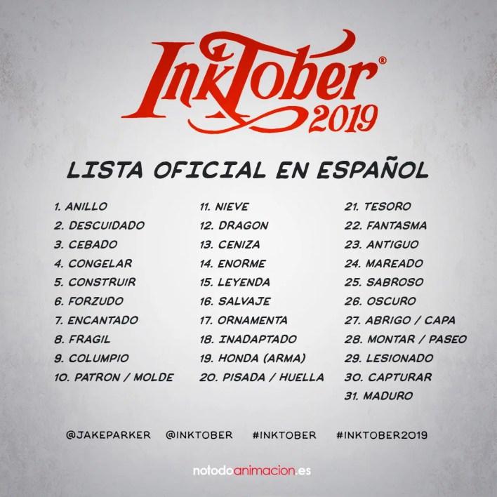 inktober 2019 en español
