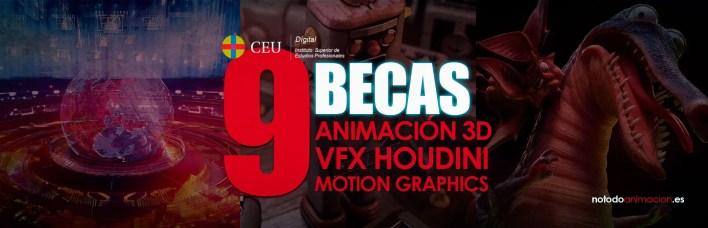 becas para estudiar animacion 3d vfx motion graphics