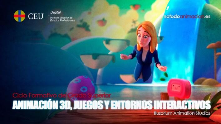 técnico superior en animaciones 3d, juegos y entornos interactivos a distancia