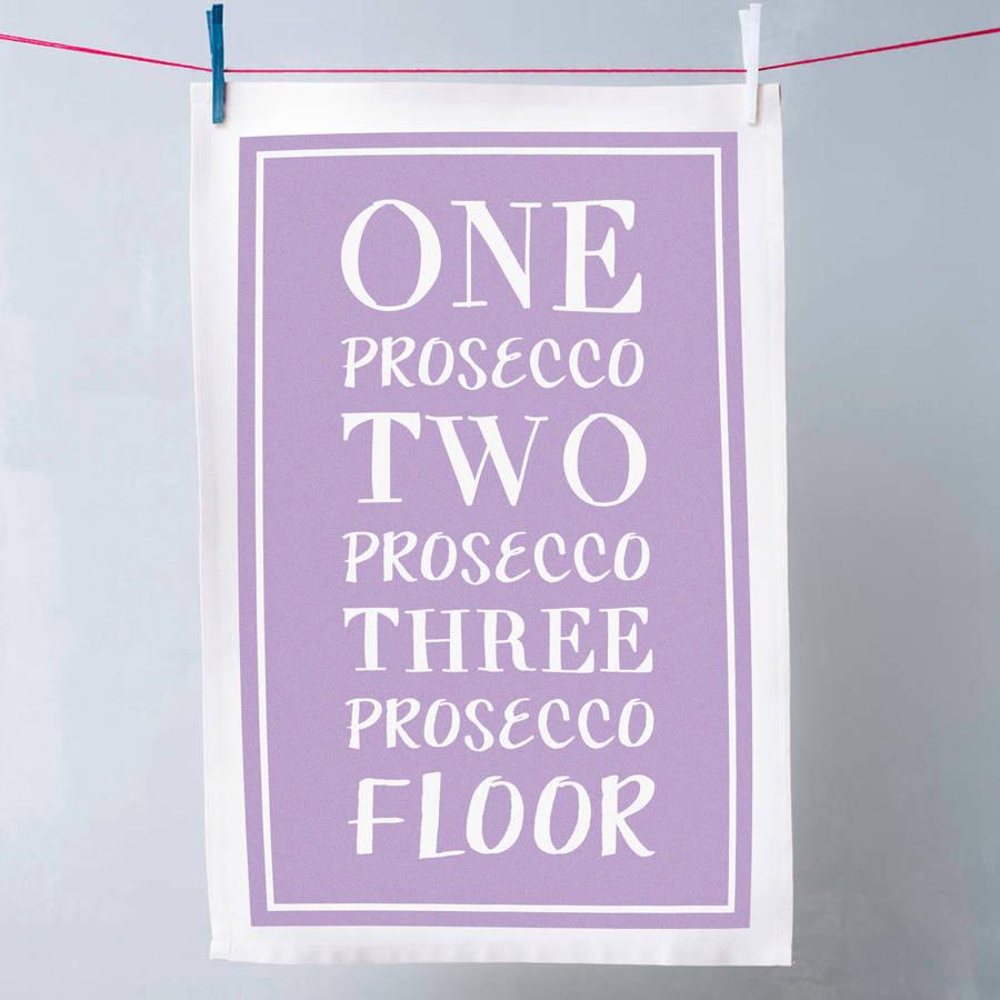 Funny Prosecco Tea Towel By Oakdene Designs