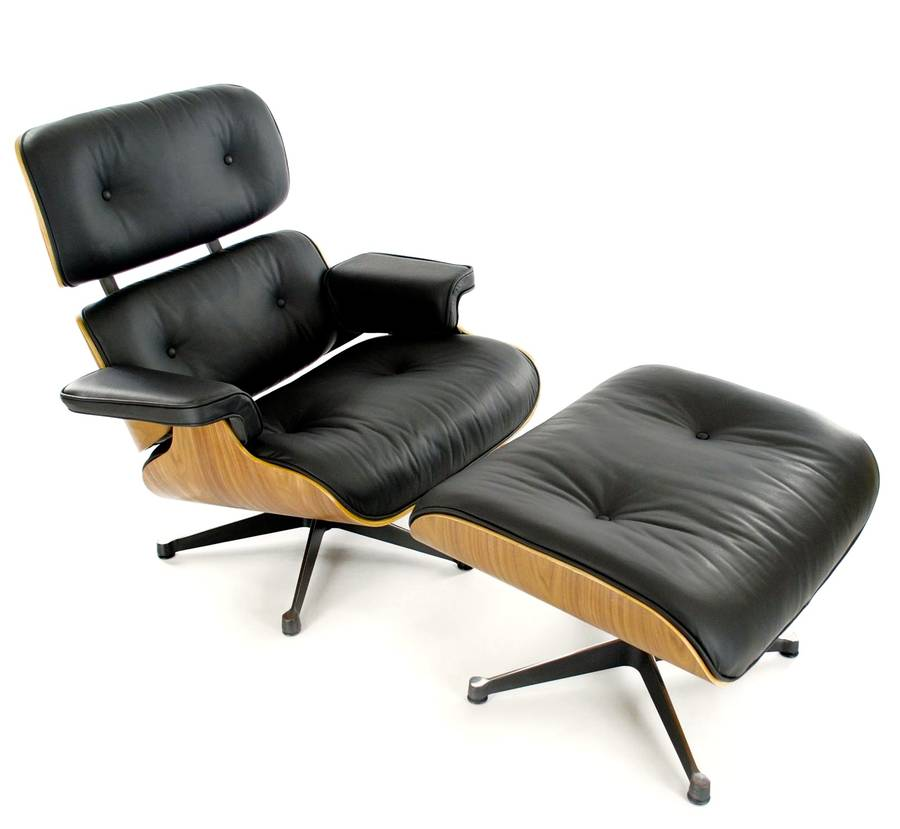 eames style lounge chair and footstool by i love retro