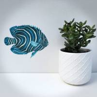 blue tropical fish wall sticker by chameleon wall art ...