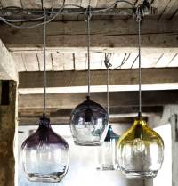 eclectic hand blown glass pendant lights by the forest
