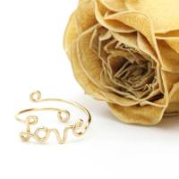gold filled love ring by regalrose